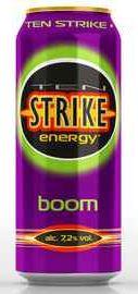 Напиток слабоалкогольный тонизирующий «Ten Strike Boom»