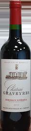 Вино красное сухое «Chateau Graveyres» 2012 г.