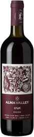 Вино красное сухое «Alma Valley Red» 2015 г.