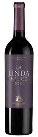 Вино красное сухое «Malbec La Linda» 2017 г.