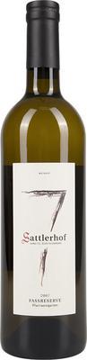 Вино белое сухое «Sattlerhof Fassreserve Pfarrweingarten» 2007 г.