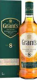 Виски шотландский «Grant's Sherry Cask Finish 8 Years Old» в подарочной упаковке
