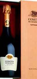 Вино игристое белое брют «Taittinger Comtes De Champagne Grands Crus Blanc De Blancs Brut» 2007 г. в подарочной упаковке