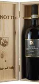 Вино красное полусухое «Lenotti Amarone della Valpolicella Classico» в деревянной подарочной упаковке