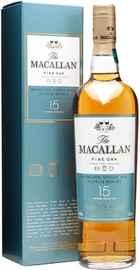 Виски шотландский «The Macallan Fine Oak 15 Years Old» в подарочной упаковке