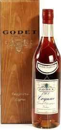 Коньяк «Godet Vintage Grande Champagne 1974» 1974 г. в деревянной коробке