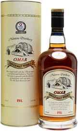 Виски «Omar Single Malt Whisky Sherry Type, 0.7 л» в подарочной упаковке