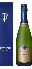Вино игристое белое брют «Cremant D'Alsace Bestheim Brut White» в подарочной упаковке