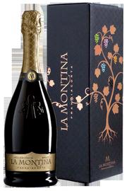 Вино игристое белое брют «La Montina Franciacorta Brut» в подарочной упаковке