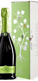 Вино игристое белое экстра брют «La Montina Franciacorta Extra Brut» в подарочной упаковке