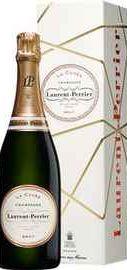 Шампанское белое брют «Laurent Perrier Brut La Cuvee» в подарочной упаковке