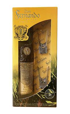 Текила «Don Fernando Reposado» в подарочной упаковке с 2 рюмками