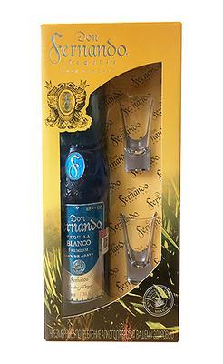 Текила «Don Fernando Blanco» в подарочной упаковке с 2 рюмками