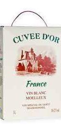 Вино белое полусладкое «Cuvee D' Or (Tetra Pak)»