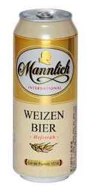 Пиво «Mannlich International Weizen Bier» в жестяной банке