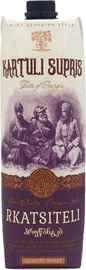 Вино столовое белое полусладкое «Kartuli Supris Rkatsiteli (Tetra Pak)»