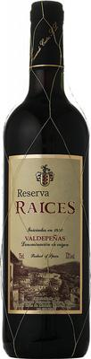 Вино красное сухое «Raices Reserva» 2015 г.