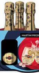 Вино игристое белое сухое «Martini Prosecco» набор из 3-х бутылок по 0.2