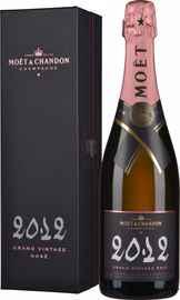 Шампанское розовое брют «Moet & Chandon Grand Vintage Rose» 2012 г., в подарочной упаковке