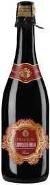 Вино игристое красное полусладкое «Lambrusco Emilia rosso»