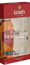 Виски шотландский  «Grant's Triple Wood 3 Years Old» в подарочной упаковке с 2-мя стаканами