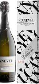 Вино игристое белое брют «Canevel Prosecco Valdobbiadene Superiore» в подарочной упаковке