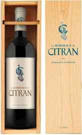 Вино красное сухое «Le Bordeaux de Citran Rouge Bordeaux» 2016 г. в деревянной коробке