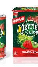 Газированный напиток «Perrier газированный с соком клубника-киви»