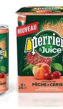 Газированный напиток «Perrier газированный с соком персик-вишня»