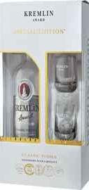 Водка «Kremlin Award Classic» в подарочной упаковке с 2-мя стопками