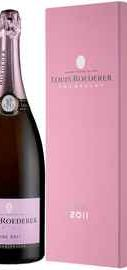 Шампанское розовое брют «Brut Rose Deluxe» 2011 г. в подарочной упаковке