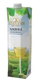 Винный напиток белый полусладкий «Тамянка Евпаторийская (Тетра Пак)»