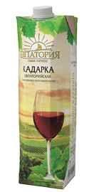 Винный напиток красный полусладкий «Кадарка Евпаторийская (Тетра Пак)»