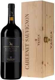 Вино красное сухое «Tasca d Almerita Cabernet Sauvignon Vigna San Francesco» 2015 г. в деревянной коробке