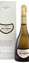 Вино игристое белое брют «Cava Gran Juve Y Camps» 2014 г. в подарочной упаковке