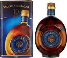 Бренди «Vecchia Romagna 10 Anni» в подарочной упаковке
