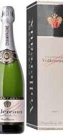 Вино игристое белое брют «Vollereaux Brut Reserve» в подарочной упаковке
