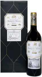 Вино красное сухое «Herederos del Marques de Riscal Reserva Rioja» 2015 г. в подарочной упаковке