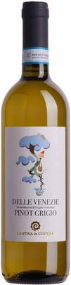 Вино белое сухое «Cantina di Custoza Pinot Grigio delle Venezie»