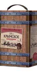 Вино столовое красное полусладкое  «Крымский винный завод Крымское (Тетра Пак)»