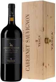 Вино красное сухое «Tasca d Almerita Cabernet Sauvignon» 2013 г. в деревянной коробке