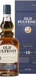 Виски шотландский «Old Pulteney 18 Years Old» в подарочной упаковке