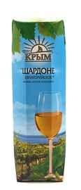 Винный напиток белый полусладкий «Шардоне Евпаторийское (Тетра Пак)»