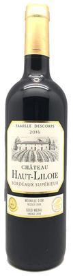 Вино красное сухое «Chateau Haut-Liloie Bordeaux Superieur»