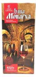 Вино столовое красное полусладкое «Душа Монарха (Тетра Пак)»
