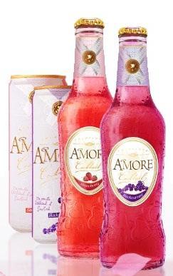 Напиток слабоалкогольный газированный ароматизированный «Amore Champange-Blackberry, 0.5 л»