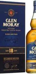 Виски «Glen Moray Single Malt Elgin Heritage 18 YO» в подарочной упаковке