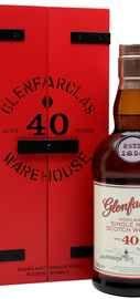 Виски шотландский  «Glenfarclas 40 Years Old» в деревянной подарочной упаковке