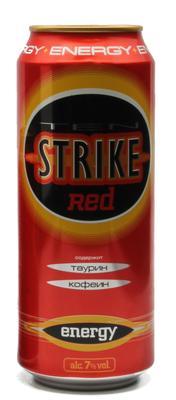 Напиток слабоалкогольный тонизирующий «Tenstrike Energy Red, 0.5 л»
