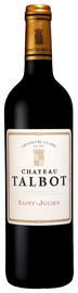 Вино красное сухое «Saint Julien Chateau Talbot Grand Cru Classe» 2014 г.